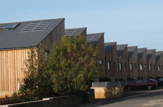 Solar thermal and solar PV (1 kW peak) at Primrose Hill, Kirklees